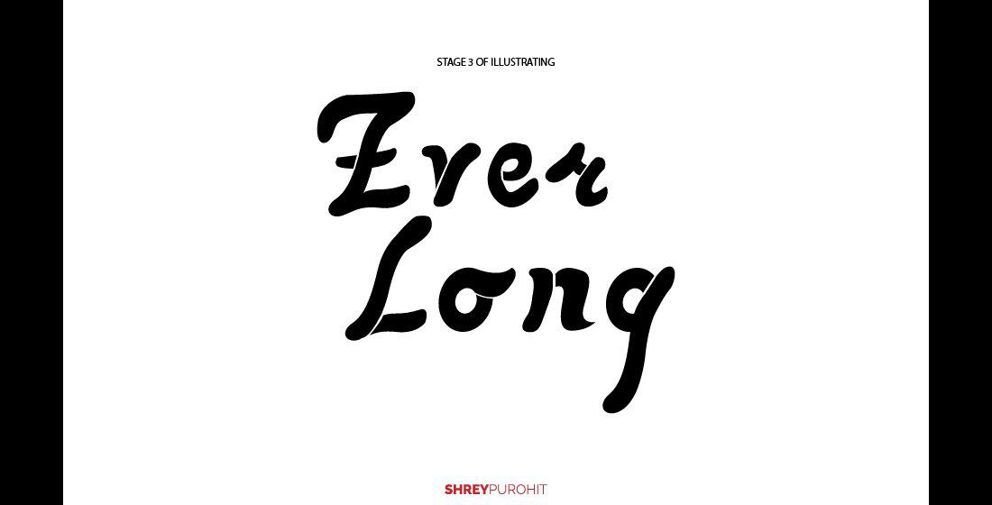 Everlong Hand-lettering Poster | Graphic Design, Calligraphy ...